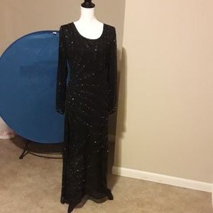 Sequins black evening gown